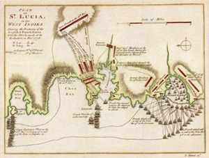 The Capture of St Lucia.